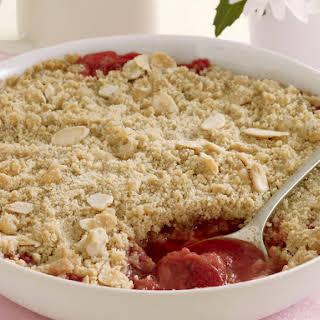 Rhubarb and Ginger Crumble.