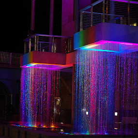 Curtains of Water by Dyane Kirkland - City,  Street & Park  Fountains ( water curtain, park, waterfall, fountain, pubic fountain )