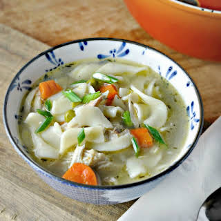 Easy Homemade Chicken Noodle Soup.