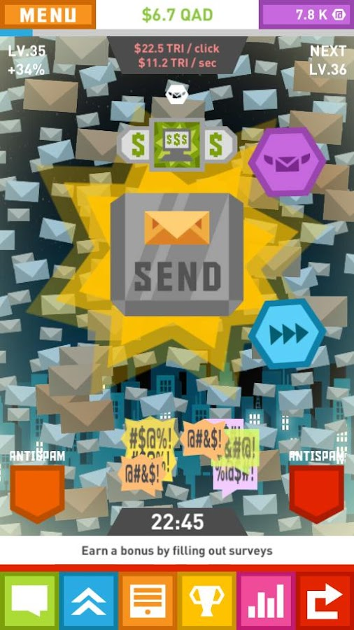 Spam Game - Clicker- screenshot