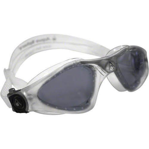 Aqua Sphere Kayenne Goggles: Clear/Silver with Smoke Lens