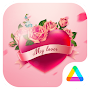 My Lover - Romantic Pink Rose Theme APK icon