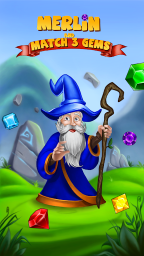 Merlin and Match 3 Gems: Puzzle Game  screenshots 1