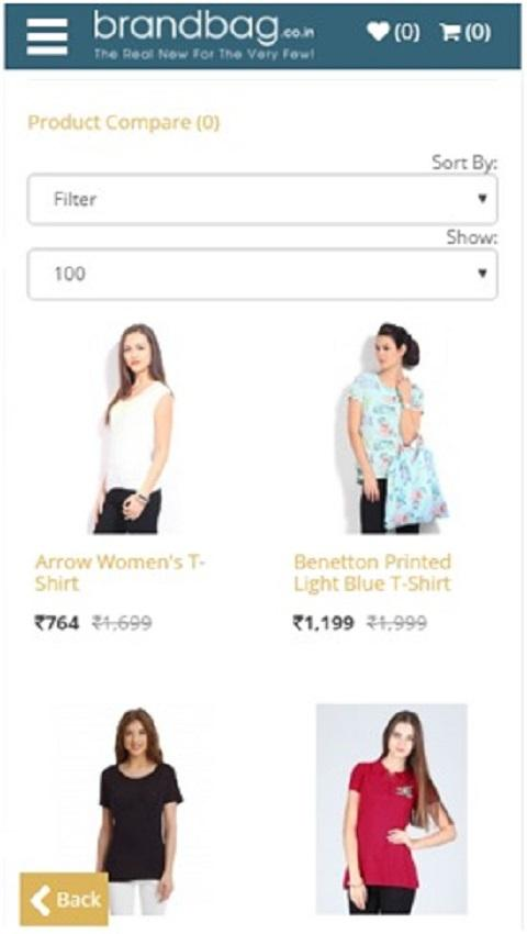 BrandBag online shopping- screenshot