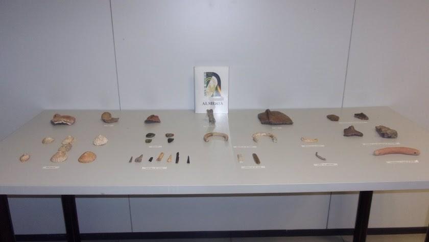 Material recuperado en la cueva hallada en Sierra Alhamilla.