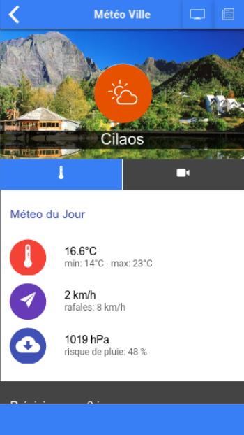 Скриншот Météo Réunion