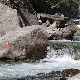 Bosco Gurin, Ticino, Switzerland by Serguei Ouklonski - Nature Up Close Water ( rock - object, boulder, foam, purity, natural depression, rapid, scenic, scenery, summer, rock, beautiful, stream - flowing water, rocks, stream, day, flow, scenics, smooth, no person, fair weather, reflection, motion, rapids, nature, switzerland, wet, beauty in nature, water, flowing, power in nature, stone, environment, outdoors, ticino, material, daylight, wilderness, valley, river, travel, splash, wild, no people, landscape, nature landscape )