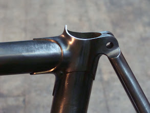 Photo: Fastback seat stay attactment and I've drilled the binder out and brazed in a single bolt binder instead of the stock setup which requires a two piece bolt.
