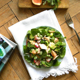 Pink Grapefruit and Salmon salad