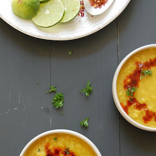 Arhar dal {Yellow split peas / Toovar dal} with spicy tempering