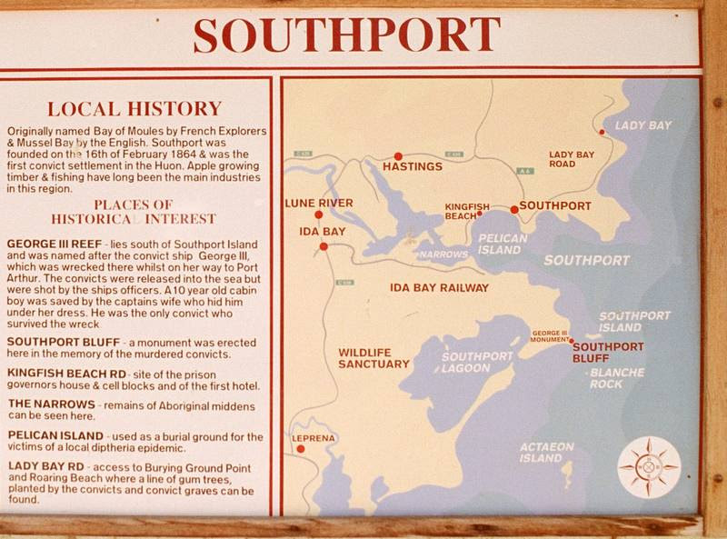 Southport  local tourist information sign