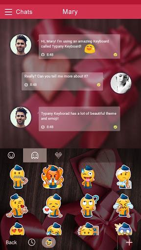 mod Love Gift Theme&Emoji Keyboard 4.5 screenshots 4