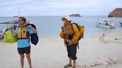 Photo: Jean & Norma arriving on Isla Espiritu Santo