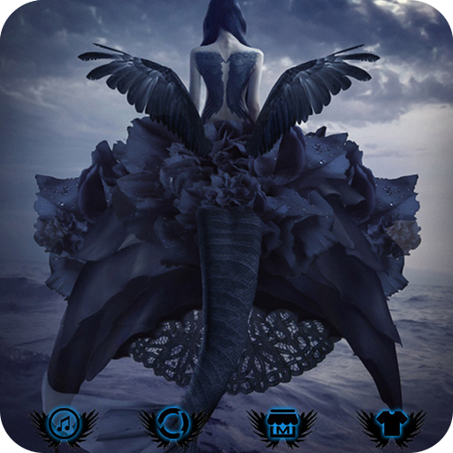 Dark angel theme black background Fallen Angel