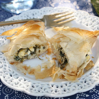 Spanakopita (Greek Spinach and Feta Pies).