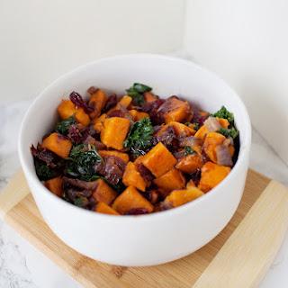 Balsamic Vinegar Sweet Potato Kale Sauté.