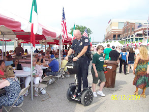 Photo: Newport Copper on a Segway....How Cools is That?