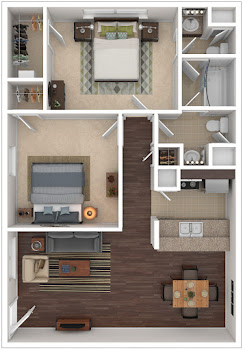 Go to Water Mill with 1.5 Baths Floorplan page.