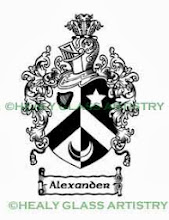 Photo: Alexander Family Crest Alexander Coat of Arms Healy Glass Artistry