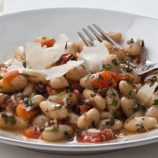 Warm Tuscan White Bean Salad with Lemon Vinaigrette