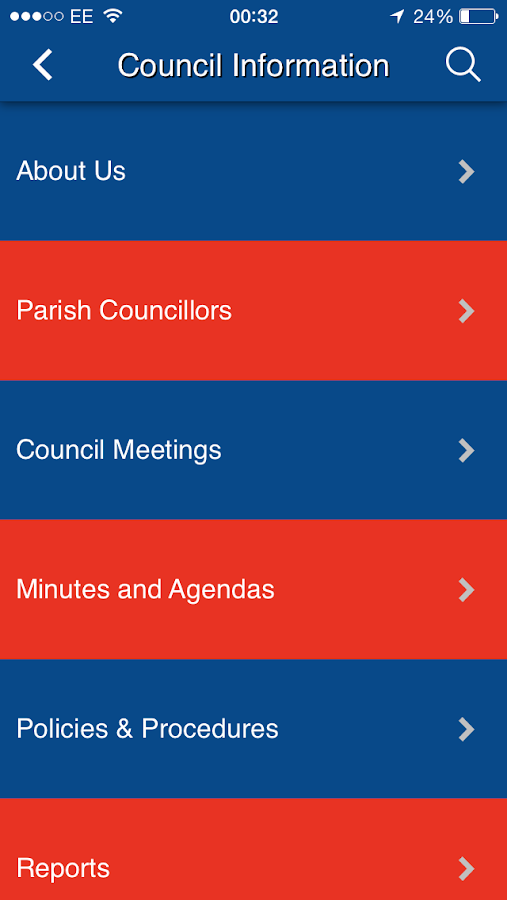 East Goscote Parish Council- screenshot