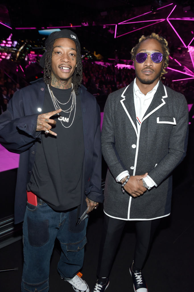 Wiz Khalifa and Future attend the 2018 Victoria's Secret Fashion Show on November 8 in New York City.