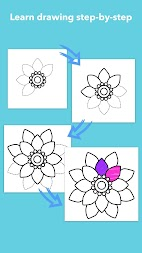 How To Draw Flowers APK screenshot thumbnail 3