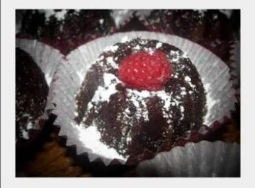 "Mini Chocolate Raspberry Rum Cakes ""Just loved it. I made a bunt cake..."