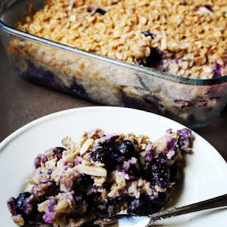 Easiest Blueberry Coconut Oatmeal Bake.