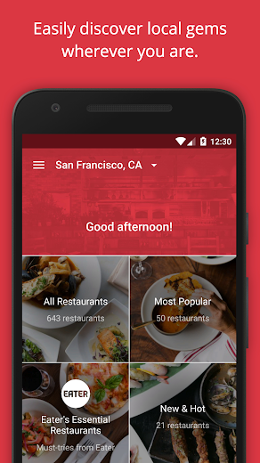 Screenshot 0 for OpenTable's Android app'