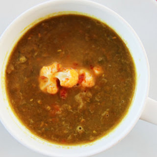 Curried Lentil Soup with Spicy Cauliflower.