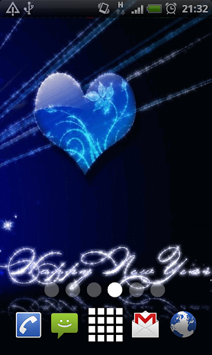Blue Heart New Year LWP