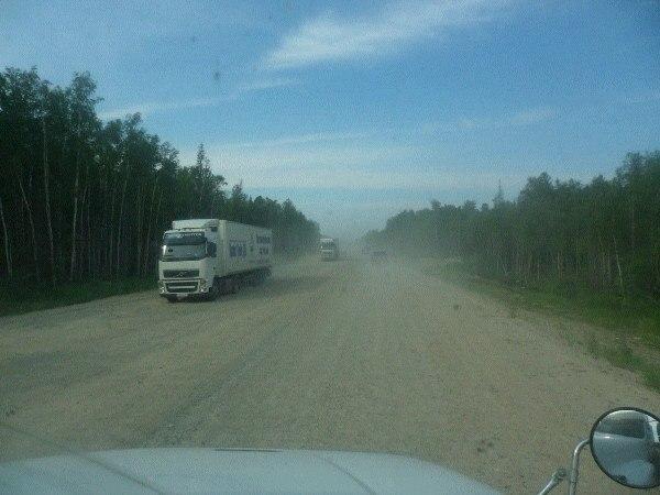 Федеральная трасса по югу Байкала