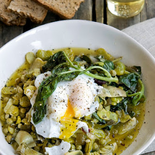 Umbrian Fava Bean Stew with Poached Duck Eggs Recipe