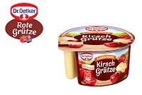 Angebot für Kirsch Grütze mit Vanille Creme im Supermarkt - Dr.Oetker