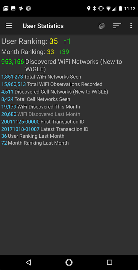 WiGLE WiFi Wardriving- screenshot