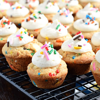 Frosted Cookie Cups with Sprinkles