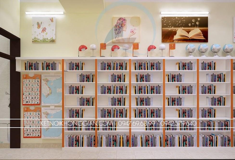 thiết kế nhà sách hiện đại