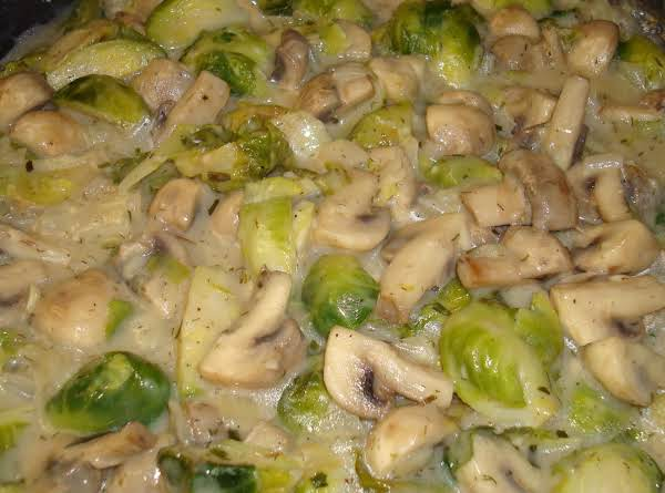 Brussels Sprouts And Mushroom Pasta Sauce
