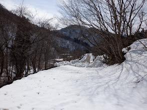 ここから先は除雪されている