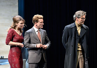"""Photo: WIEN/ Theater in der Josefstadt: """"VOR SONNENUNTERGANG"""" von Gerhard Hauptmann. Premiere 3.9.2015. Marina Senckel, Raphael von Bargen, Christian Nickel. Copyright: Barbara Zeininger"""