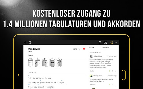 Ultimate Guitar: Gitarre Stimmen & Chords & Tabs Screenshot