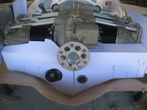"""Photo: Rear baffle with markings for adjustment.  In general, lower edge down ~1-2"""""""