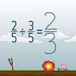 Dividing Fractions Math Game Icon