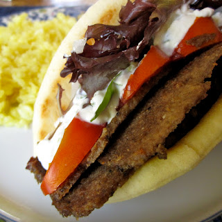 HOMEMADE GREEK GYROS with TZATZIKI SAUCE