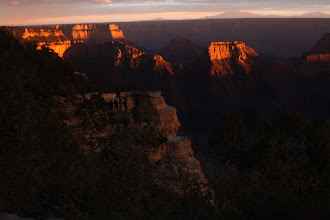Photo: The sun setting on my 40th birthday at the north rim of the grand canyon