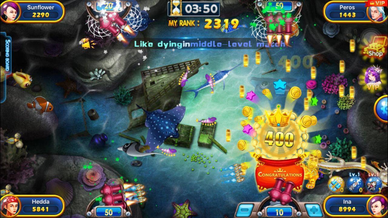 Fishing war battle of fish screenshot