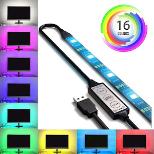 Kit banda LED RGB pentru iluminare ambientala TV, 1 metru, IP 65