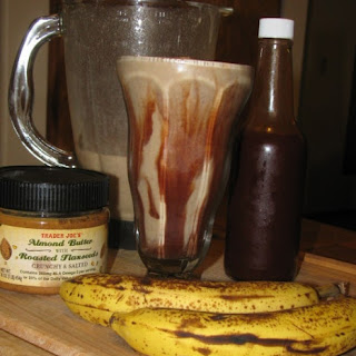 Chocolate, Banana and Almond Butter Smoothie.