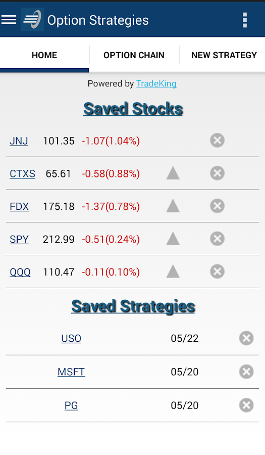Option Strategies- screenshot